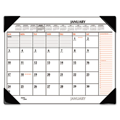 AT-A-GLANCE® Two-Color Monthly Desk Pad Calendar