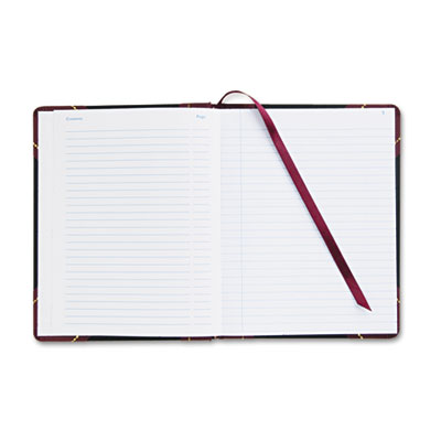 Adams® Black and Maroon Record Ledger