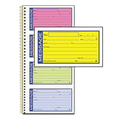 Adams® Wirebound Telephone Message Book