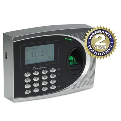 Acroprint® timeQplus Biometric Time and Attendance System with Web Option