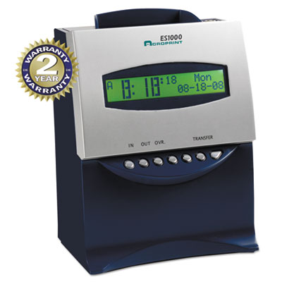 Acroprint® ES1000 Atomic Totalizing Payroll Recorder