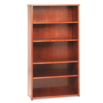 basyx® BW Veneer Series Five-Shelf Bookcase