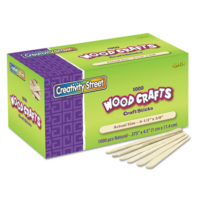 Chenille Kraft® Natural Wood Craft Sticks