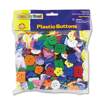 Chenille Kraft® Plastic Button Assortment
