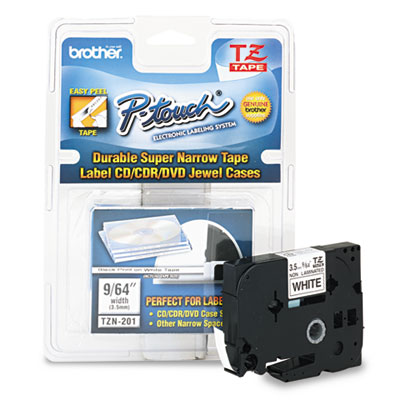 Brother® P-Touch® TZ Series Super-Narrow Non-Laminated Labeling Tape