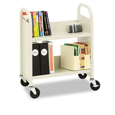 Bretford Steel Slant Shelf Single-Sided Book Carts