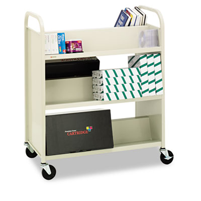 Bretford Steel Slant Shelf Double-Sided Book Carts