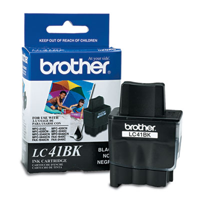 Brother® LC41BK, TLC41C, LC41HYBK, LC41Y, LC41Y Inkjet Cartridge