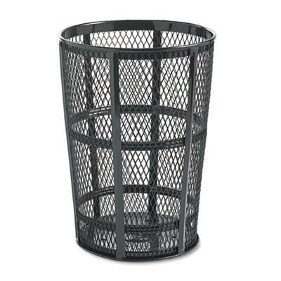 Rubbermaid® Commercial Steel Street Basket Waste Receptacle