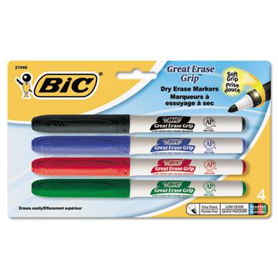 BIC® Great Erase® Grip Fine Point Dry Erase Marker