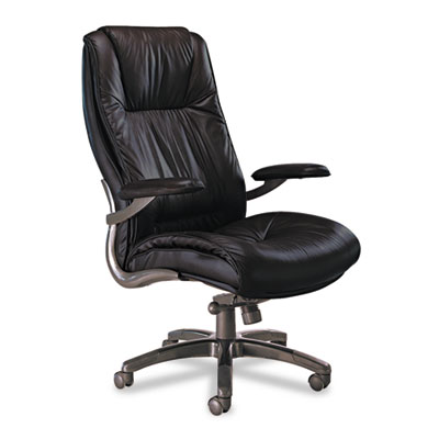 Mayline® Leather Seating Series Executive High-Back Swivel/Tilt Chair