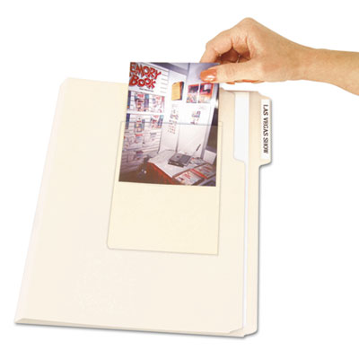 C-Line® Peel & Stick Photo Holders