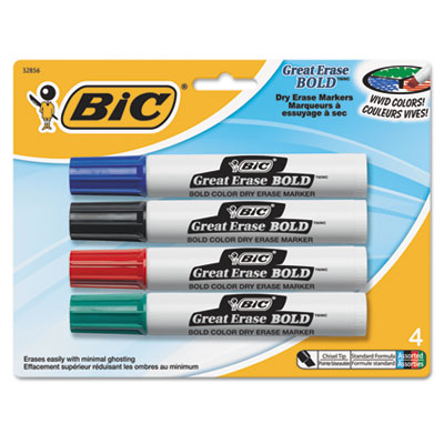 BIC® Great Erase® Bold Tank-Style Dry Erase Marker