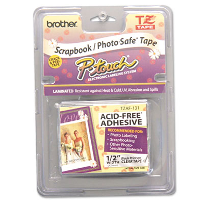 Brother® P-Touch® TZ Series Photo and Scrapbook Safe Tape