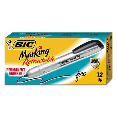 BIC® Marking™ Retractable Permanent Marker