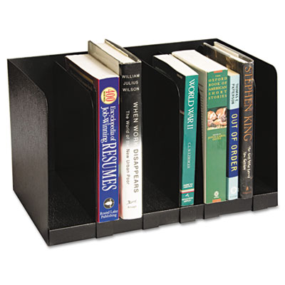 Buddy Products Steel Six-Section Book Rack With Dividers