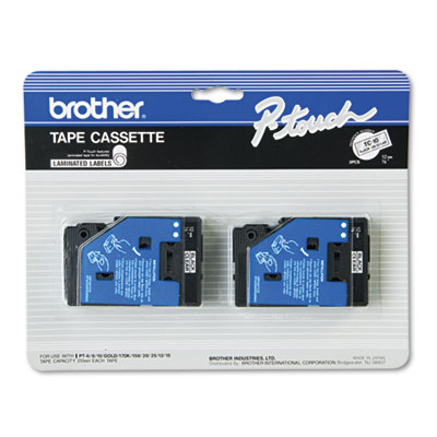 Brother® P-Touch® TC Series Standard Adhesive Laminated Labeling Tape