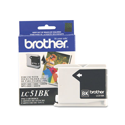 Brother® LC51BK, LC51C, LC51HYBK, LC51M, LC51Y Ink