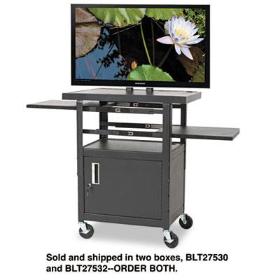 BALT® Two-Shelf Height Adjustable Flat Panel TV Cart