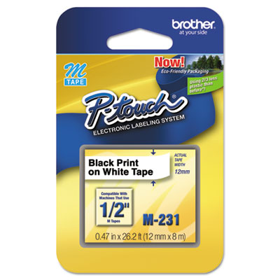 Brother® P-Touch® M Series Standard Adhesive Labeling Tape