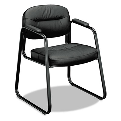 basyx® VL653 Leather Guest Chair
