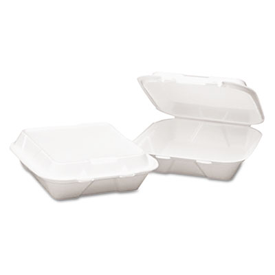 Boardwalk® Snap-it Foam Hinged Lid Carryout Containers