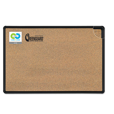Best-Rite® Black Splash-Cork Board