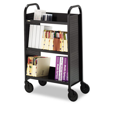 Bretford Single-Sided Three-Shelf Book and Utility Cart