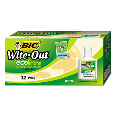 BIC® Wite-Out® Brand Ecolutions® Water Base Correction Fluid