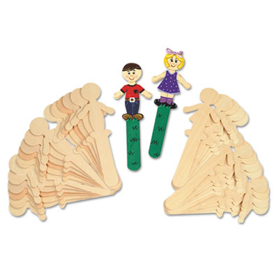 Chenille Kraft® People-Shaped Wood Craft Sticks