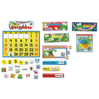 Carson-Dellosa Publishing Frog Calendar Bulletin Board Set