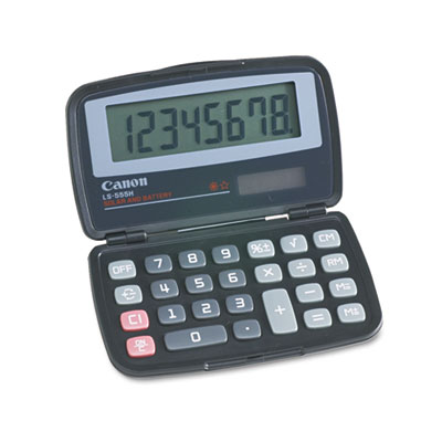 Canon® LS555H Handheld Foldable Pocket Calculator