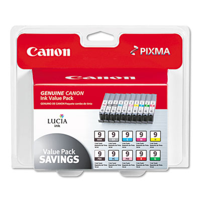 Canon® 1033B005 (PGI-9) Value Pack Inkjet Cartridges
