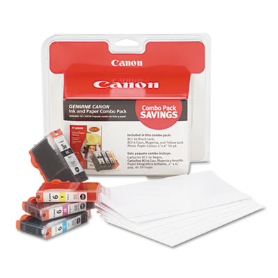 Canon® 4479A292 Ink Tank and Photo Paper Combo Pack