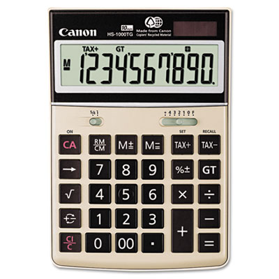 Canon® HS-1000TG One-Color 10-Digit Desktop Calculator