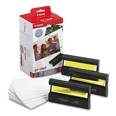 Canon® 9585A001, 7737A001 Color Ink Cartridge and Glossy Photo Paper Kit