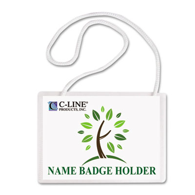 C-Line® Specialty Name Badge Holder Kits