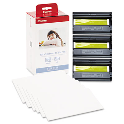 Canon® KP-108IN Color Ribbon and Glossy Photo Paper Pack