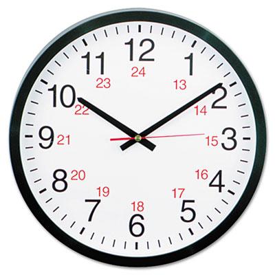 Universal® 24-Hour Round Wall Clock