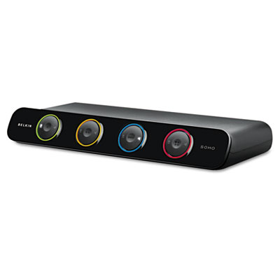 Belkin® SOHO Four-Port Desktop KVM Switch
