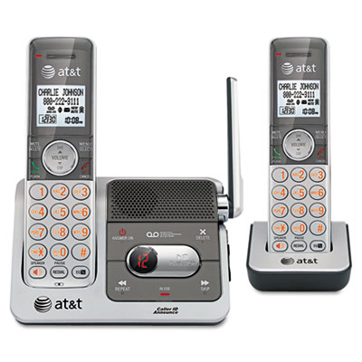 AT&T® DECT 6.0 Dual Handset Cordless Phone System