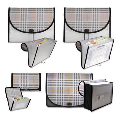 C-Line® Plaid Design Expanding Files