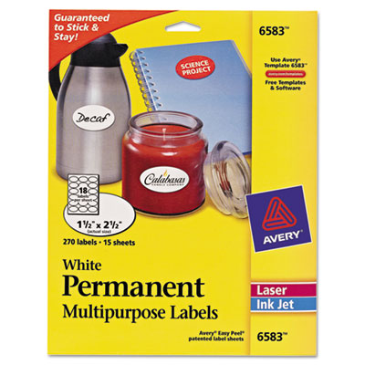 Avery® Oval Multi-Use Labels