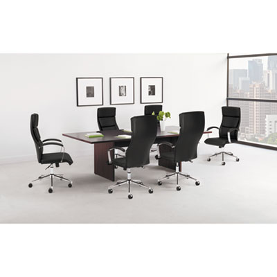basyx® BL Laminate Series Rectangle Conference Table with Slab Base