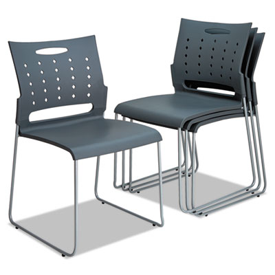 Alera® Continental Series Plastic Perforated Back Stack Chair