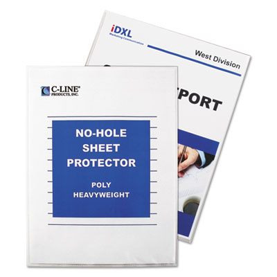 C-Line® No-Hole Polypropylene Sheet Protector