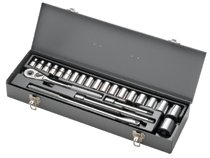 "Armstrong Tools 23 Piece 1/2"" Dr. Metric Socket Sets"