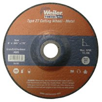 Weiler® Vortec Pro® Type 27 Thin Cutting Wheels