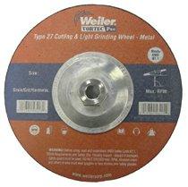 Weiler® Vortec Pro® Type 27 Pipeline - Cutting & Light Grinding Wheels