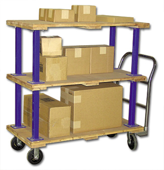DOUBLE & TRIPLE DECKER HARDWOOD PLATFORM TRUCKS